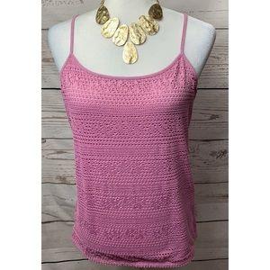 EUC Loft Purple Crochet Cami
